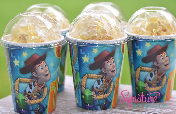 Toy Story Party-Woody Birthday Party Cups-Popcorn Box-Set of 8 on Etsy, $10.40