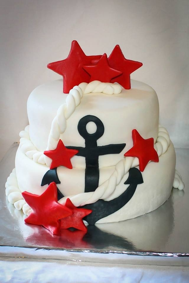 17 Best ideas about Anchor Cakes on Pinterest Blue cakes ...