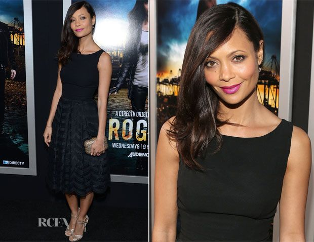 Thandie Newton In Vintage Gathering Goddess – 'Rogue' LA Premiere