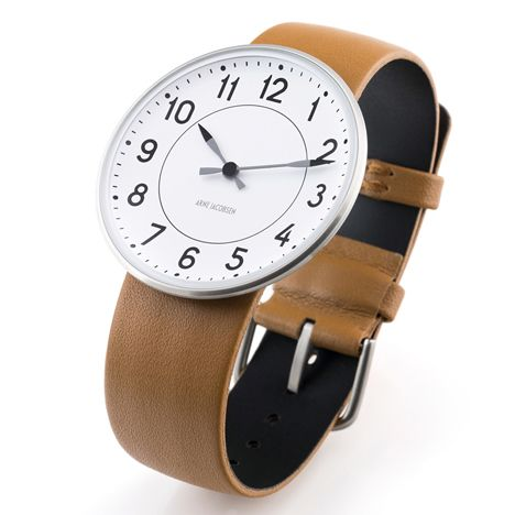 diletantes-estantería: Arne Jacobsen: Reloj de la estación que se encuentra en Dezeen