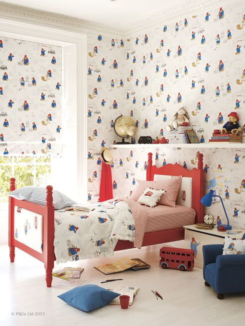Paddington Bear™ - Nursery Tales Collection - Jane Churchill Fabrics & Wallpapers Available at James Brindley.