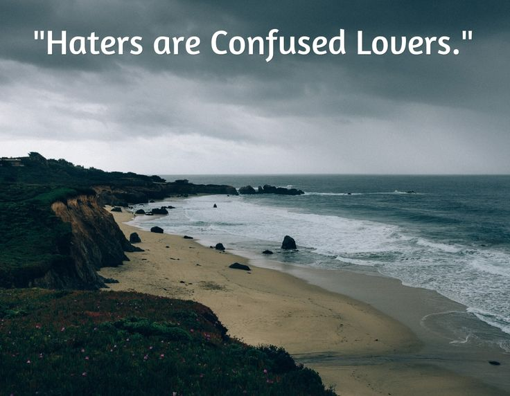 Haters are Confused Lovers - An Insightful Quote