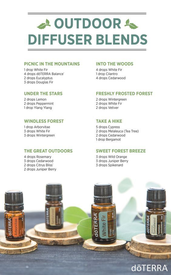 Outdoor essential oil diffuser blends | doTERRA Essential Oils