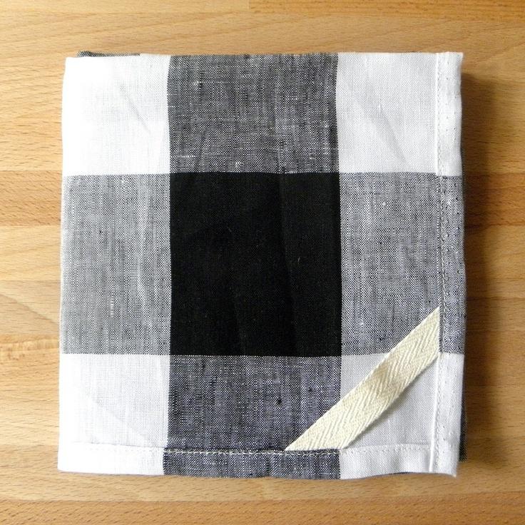 dish towel . linen buffalo check ++ small batch production