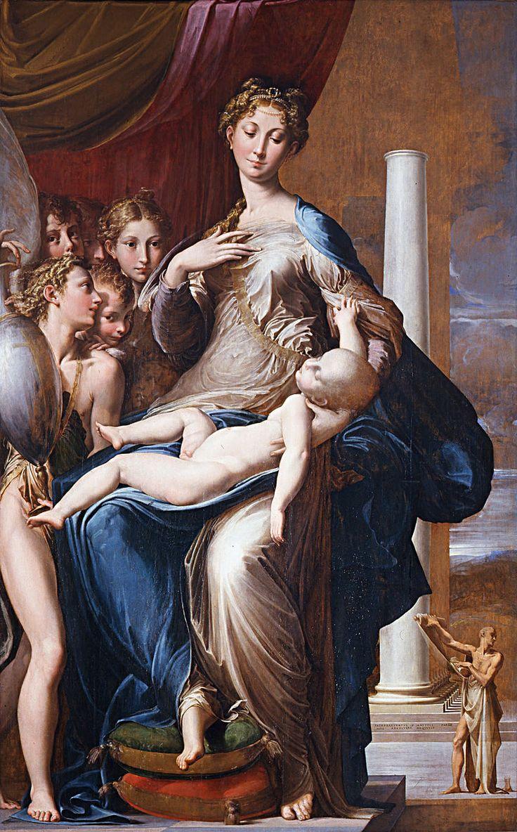 Пармиджанино. Мадонна с длинной шеей. 1534-1540 гг. Уффици