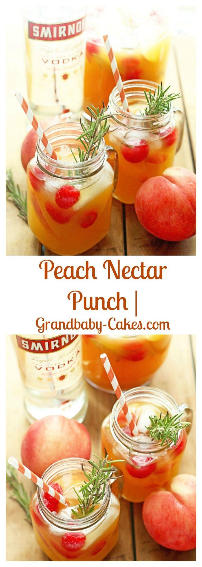 Peach Nectar Punch | Grandbaby-Cakes.com