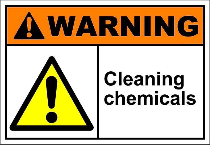 Cleaning chemicals | Safety signs | Signs, Drawings