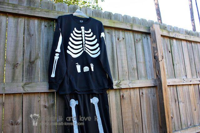 Painted skeleton