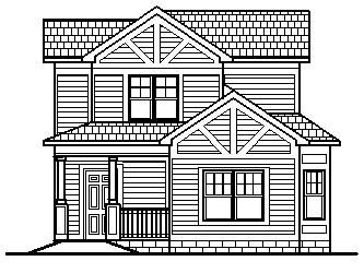 Simple house design sketch