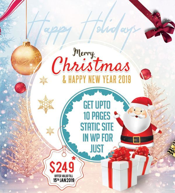 Grab The Fantastic Christmas Offer On Wordpress Sites For To 249 From Css Tree Offer Val Merry Christmas And Happy New Year Christmas Happy New Year 2019
