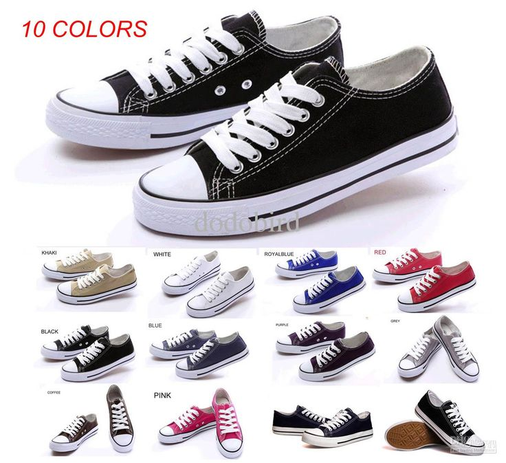 Brand New Unisex Canvas Shoes High Low-Top Adult Laced Up Casual Shoes Star  Athletic Shoes Sneaker 10 Colors 35~45 sizes