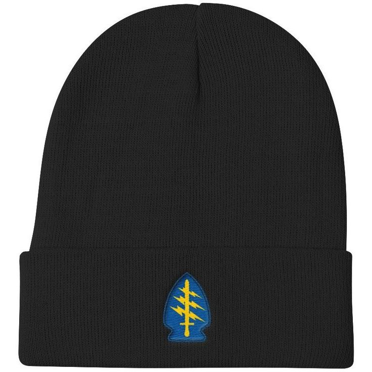 Embroidered Special Forces Patch Knit Beanie