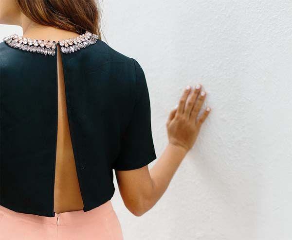 Cómo hacer tu camiseta con espalda descubierta reciclando