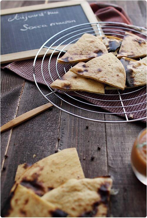 Socca niçoise (Galette à la farine de pois chiches) - Chef Nini - Vegan recipe