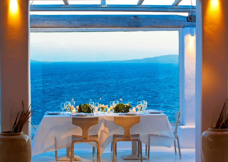 Dining under the moonlight with this view is simply wonderful...The holidays you will be talking about a lifetime! #MykonianMare #Mykonos #Summer