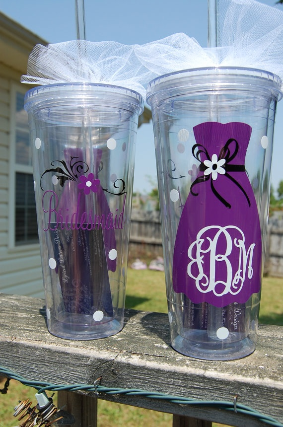 Bridal Party Wedding Tumbler  Personalized by lyricalletters, $15.00
