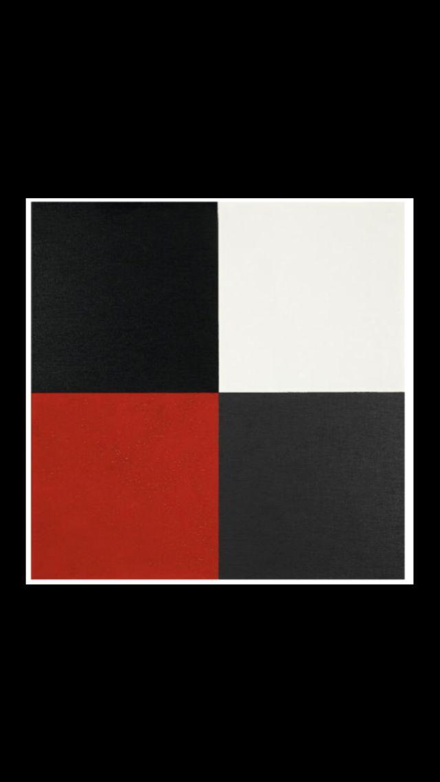 """Aurélie Nemours - """"Croix du cygne"""", 1972 - Huile sur toile - 50 x 50 cm"""