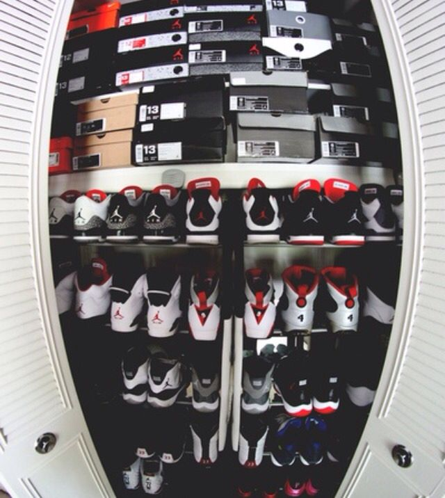 A Collection Of Nike Air Jordan Shoes Fly High With Who Wouldnt Want This In Their Room Right Now Brought To You By Upscale Streetwear