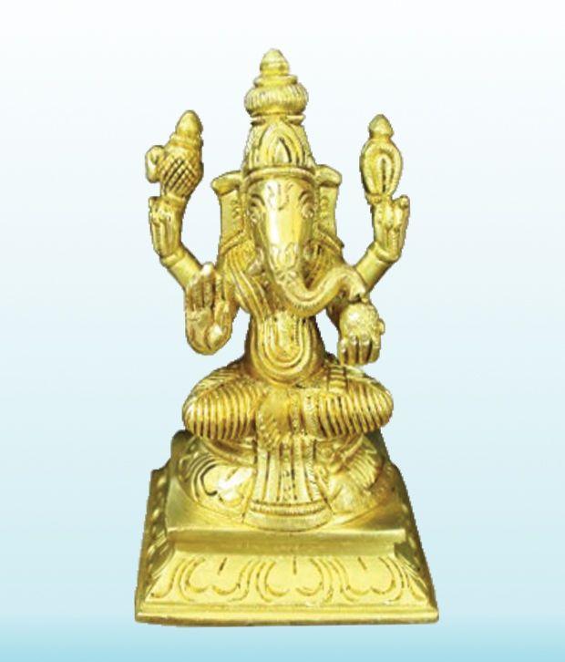 Kamakshi Idol In Brass Religious God Sculpture Festival