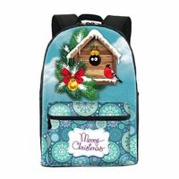 ONE2 design cute monster blue Christmas school backpack for young children kids teenage girls university students