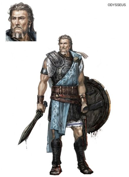 What are some characteristics of Odysseus?