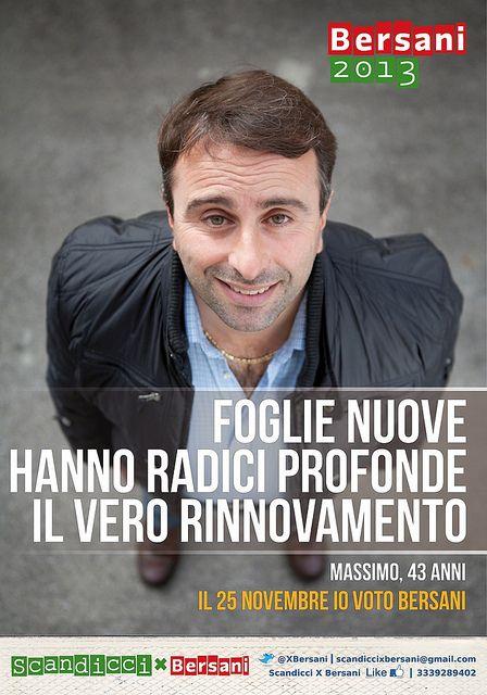 Bersani 2013 - Partito Democratico - Political Poster
