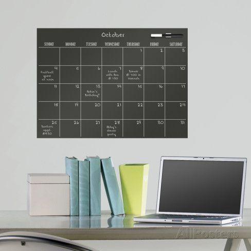 マーカーボード・カレンダー(ブラック)ウォールステッカー・壁用シール ウォールステッカー