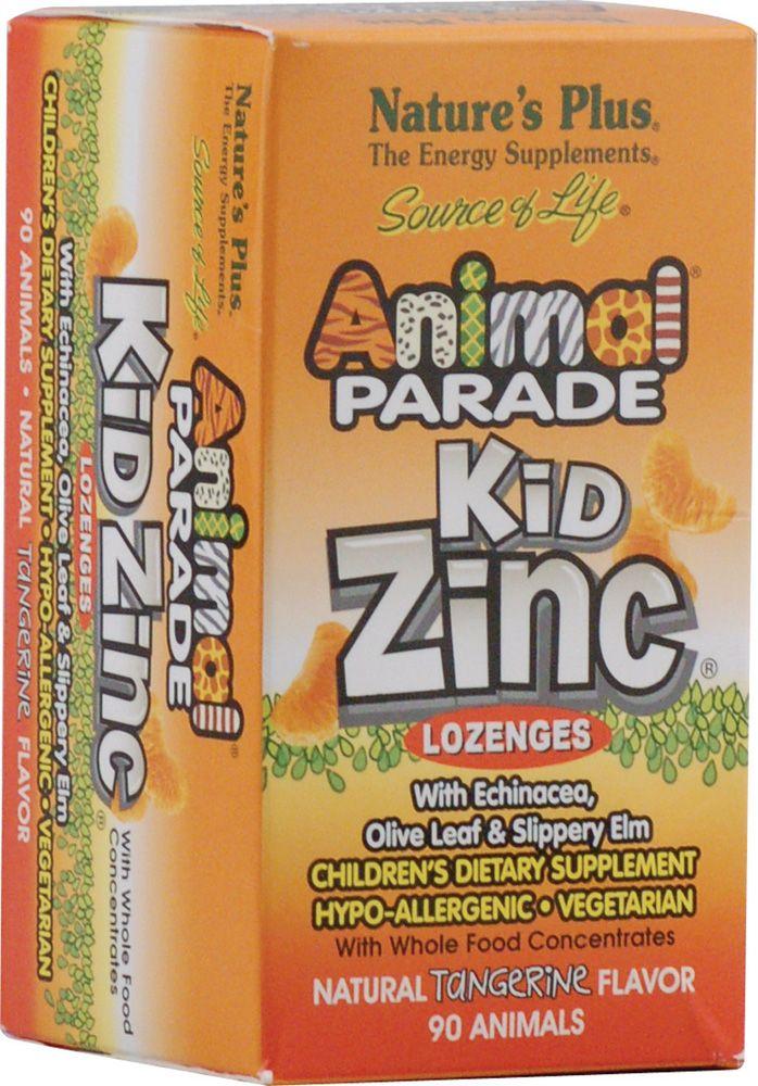 Nature's Plus Animal Parade® KidZinc® Lozenges Tangerine - Zinc Lozenges for kids - used to boost immunity