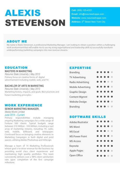 Creative Resume Templates for Mac  Apple Pages ٩(͡๏̯͡๏)۶  Kukook
