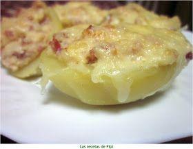 Patatas rellenas beacon y nata