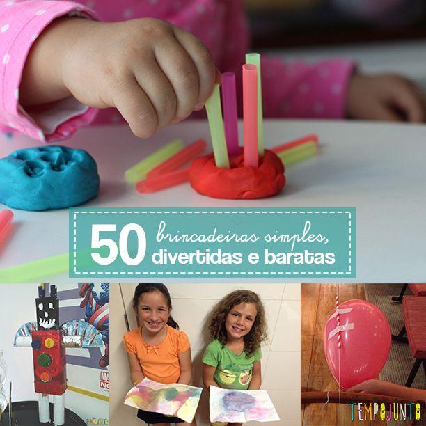 Com sucata e materiais simples como canudos você tem 50 atividades simples, divertidas e baratas para fazer dentro de casa com as crianças.