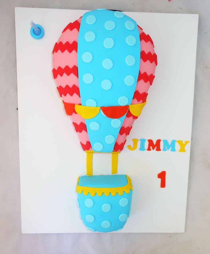 2D Hot Air Balloon Cake by My Cake Place http://www.mycakeplace.com.au/ https://www.facebook.com/MyCakePlace