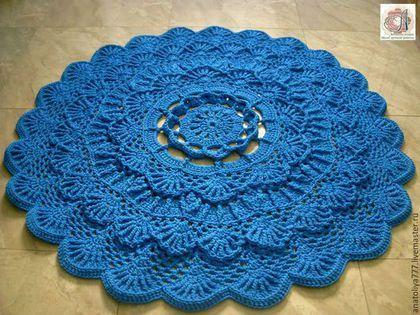 Текстиль, ковры ручной работы. Ярмарка Мастеров - ручная работа. Купить Ковер ручной работы вязаный из шнура Волна. Handmade.