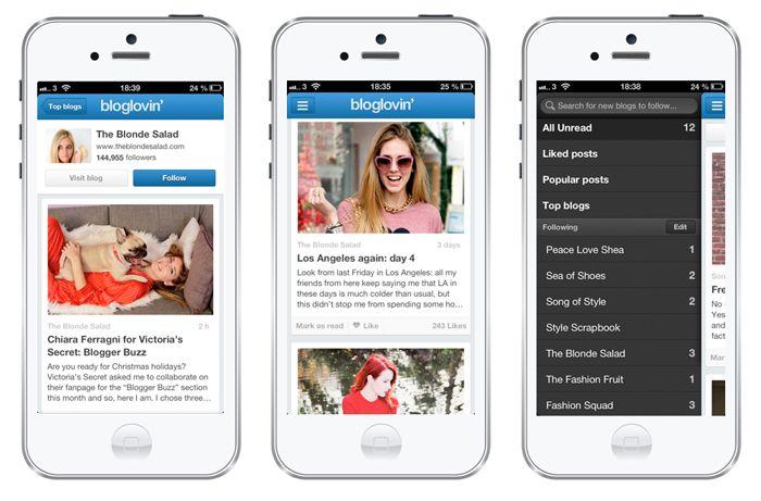 Bloglovin' new Iphone App | The Blonde Salad