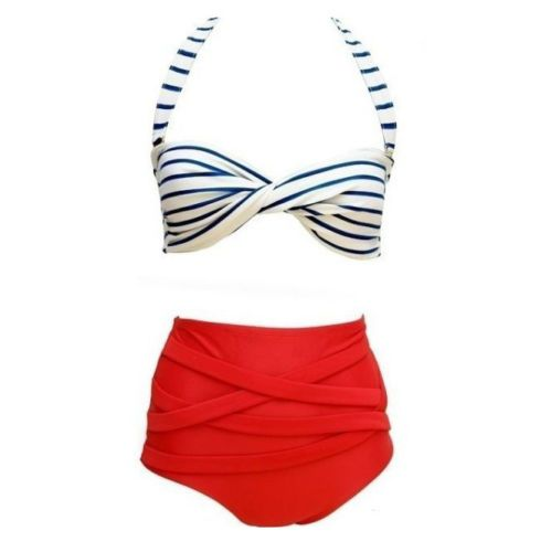 Womens-Bandage-Bikini-Set-Push-up-Padded-Bra-Swimsuit-Bathing-Suit-Swimwear
