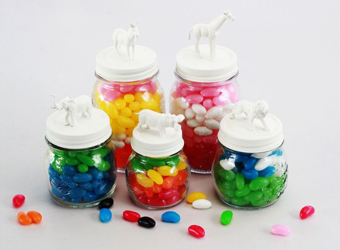Diy Animal Candy Jars  •  Free tutorial with pictures on how to make a jar in under 60 minutes