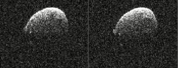 Asteroid 2005 UL5 am 20. November 2015 (Radarbild / Ausschnitt)