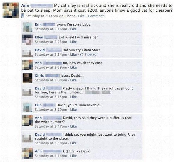 The Funniest Facebook Posts Of All Time
