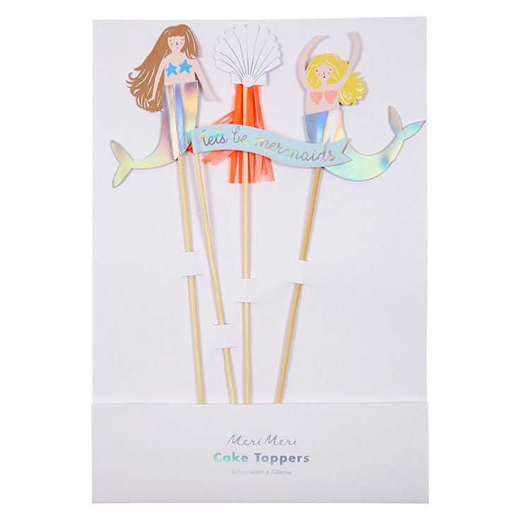 Let's Be Mermaids Cake Toppers