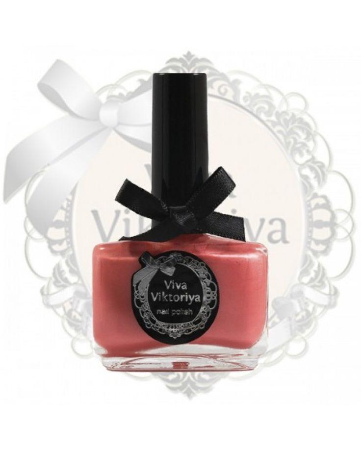 137 Персиково-розовый перламутровый оттенок. Лак для ногтей Viva Viktoriya