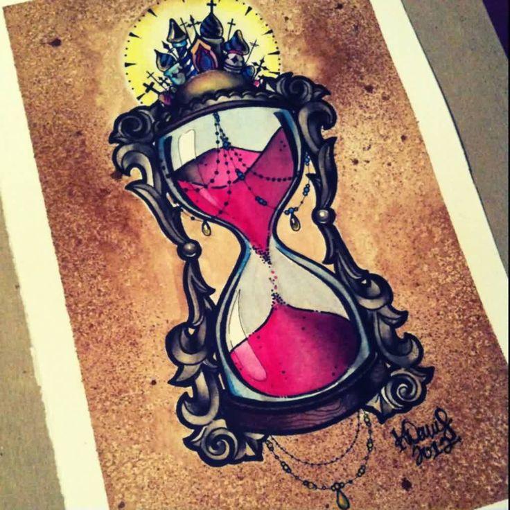 Hour Glass Tattoo Flash                                                                                                                                                                                 Más