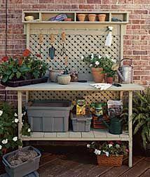 Banco para herramientas de jardineria. Tutorial
