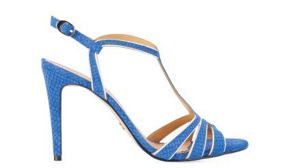 Niebiesko-kremowe sandały #Kazar