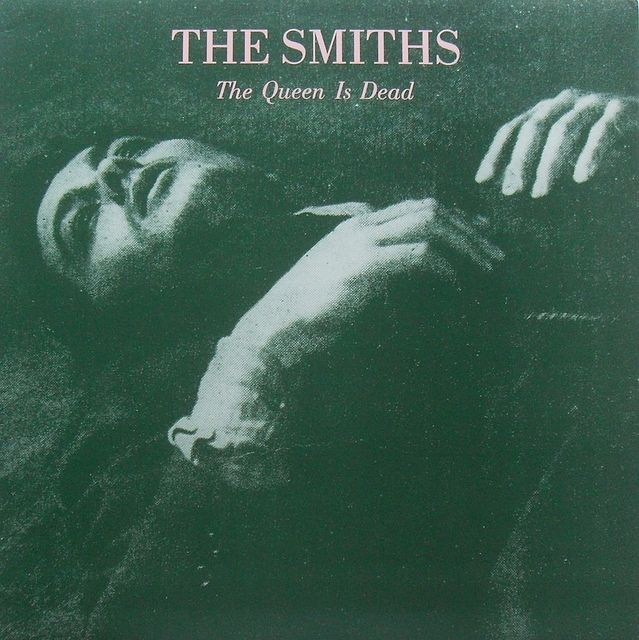 1986 THE SMITHS Morrissey THE QUEEN IS DEAD LP 1980s record album sleeve graphics  cover  by Christian Montone