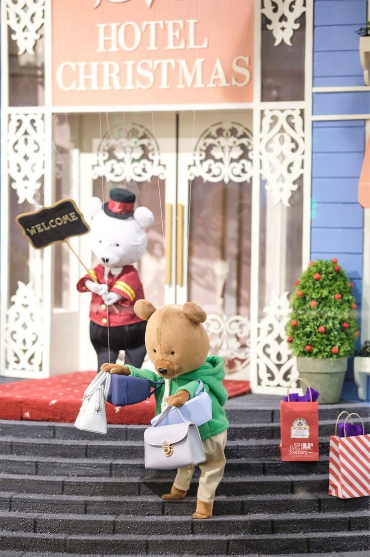 At Hotel Lobby - - Hotel Christmas Teddy Bear Marionette from France at Taman Anggrek Mall - by Myfunfoodiary