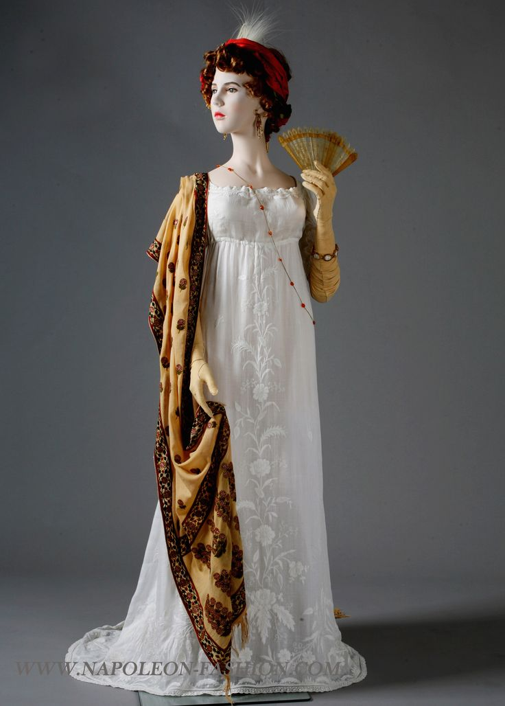 Dress ca. 1802-03 and scarf ca. 1795 From Napoleon & the ...