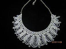 (+1) тема - Ожерелье-воротник из бусин горного хрусталя   РУКОДЕЛИЕ