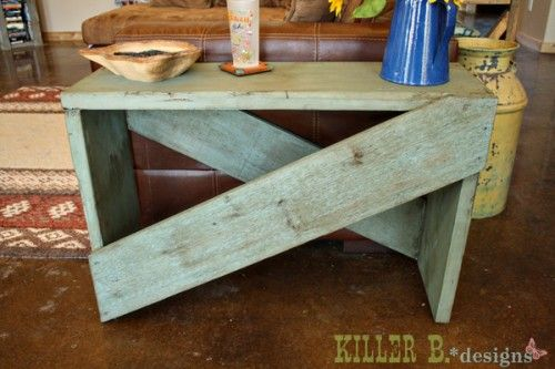 Ana White   Build a 5 Board Cross Brace Console or Side Table   Free and Easy DIY Project and Furniture Plans