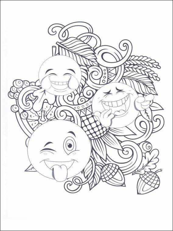 Kleurplaten Emoji.Dessins Pour Enfants Emojis Emoticones 10 Kleurplaten Emoji