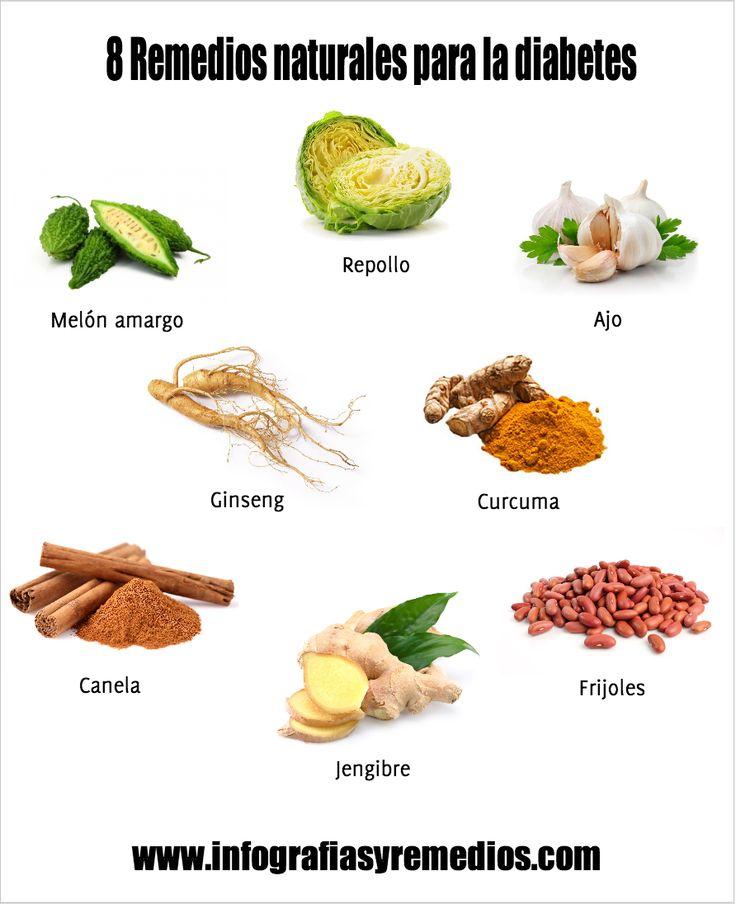 Los 8 mejores remedios naturales para la diabetes - Infografías y Remedios. #diabetes #remedios #saludable